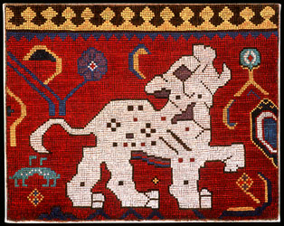 Spotted Leopard - Detail from an 18th Century safavid animal carpet