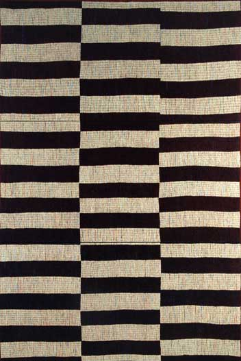Black and White Kilim Triptych