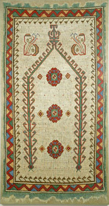 white prayer rug