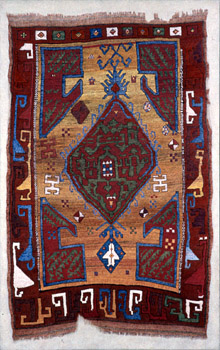 Grotesque Turkish Rug - The title implies a style of drawing for dramatic, artistic effect, usually suggesting antiquity